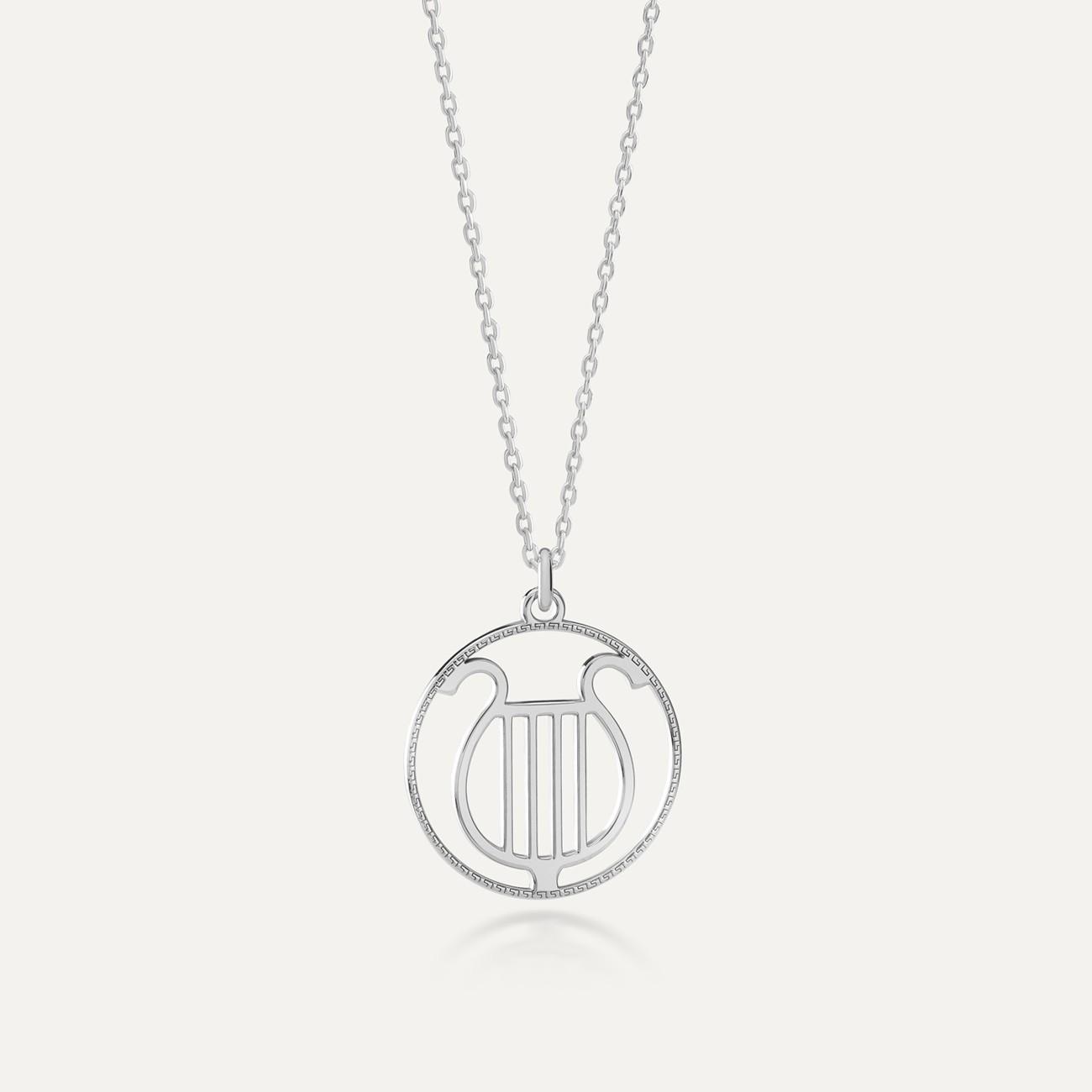 Srebrny naszyjnik bogowie greccy - Apollo MON DÉFI
