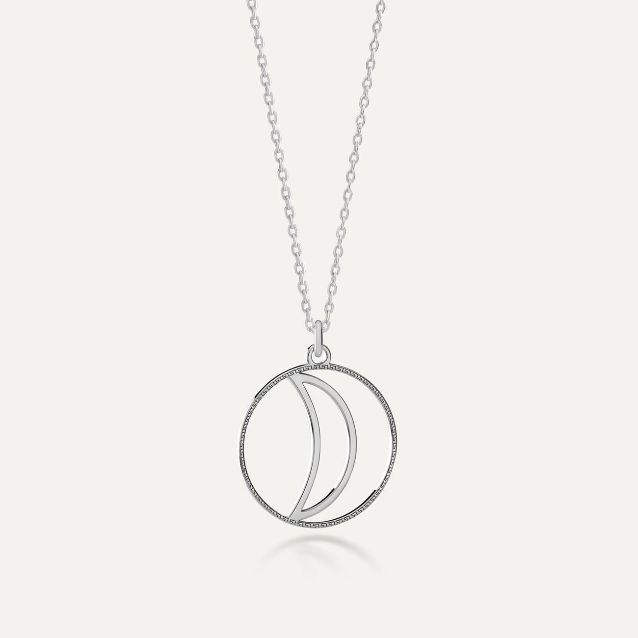 Srebrny naszyjnik bogowie greccy - Artemida MON DÉFI