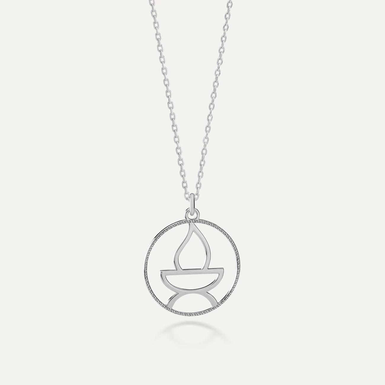 Srebrny naszyjnik bogowie greccy - Hefajstos MON DÉFI
