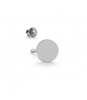 Pendientes placas redondas 4mm