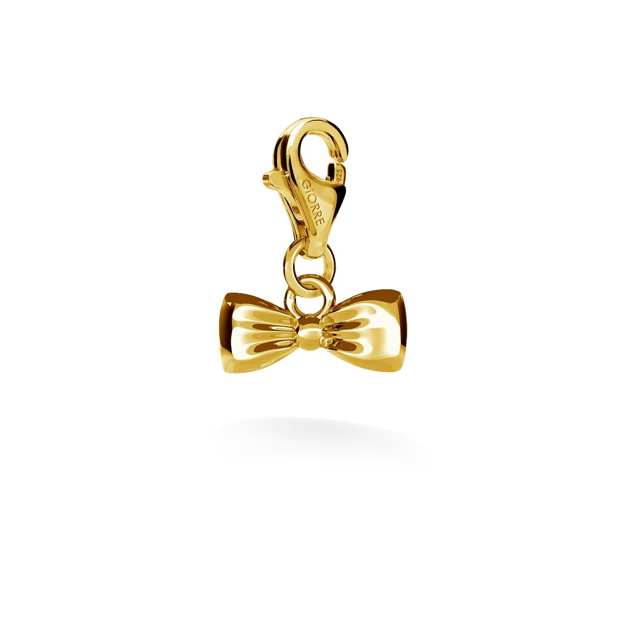 CHARM 32, BOW, SILVER 925,  RHODIUM OR GOLD PLATED