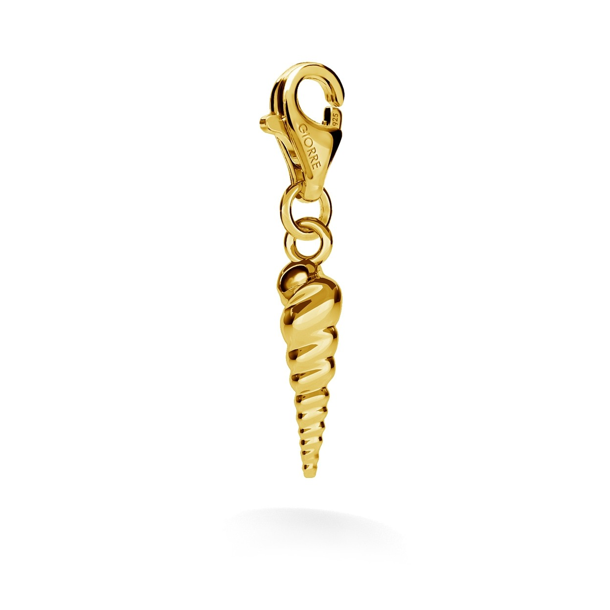 CHARM 87, CRAB SHELL, SILVER 925,  RHODIUM OR GOLD PLATED