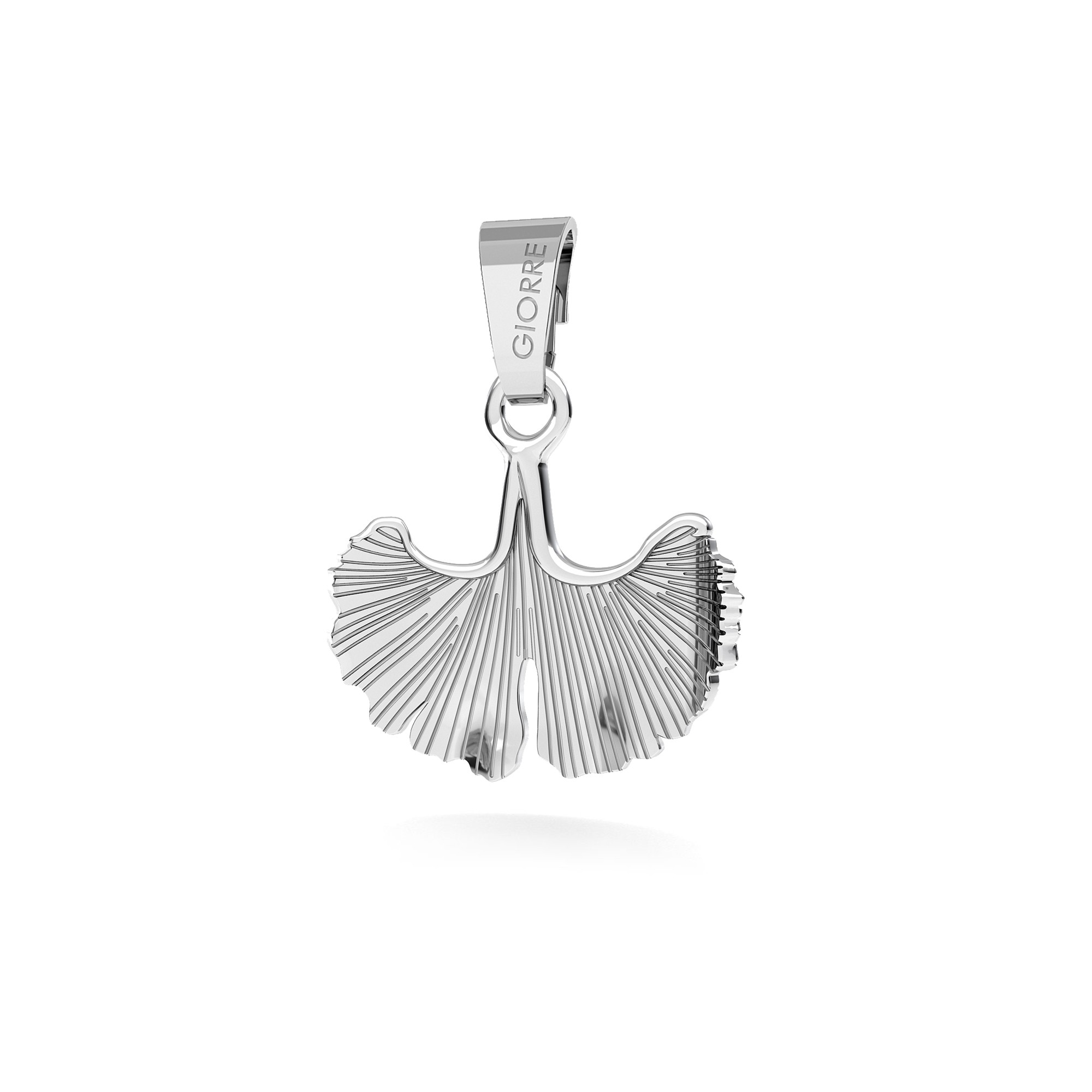 FEATHER pendant charms bead sterling silver