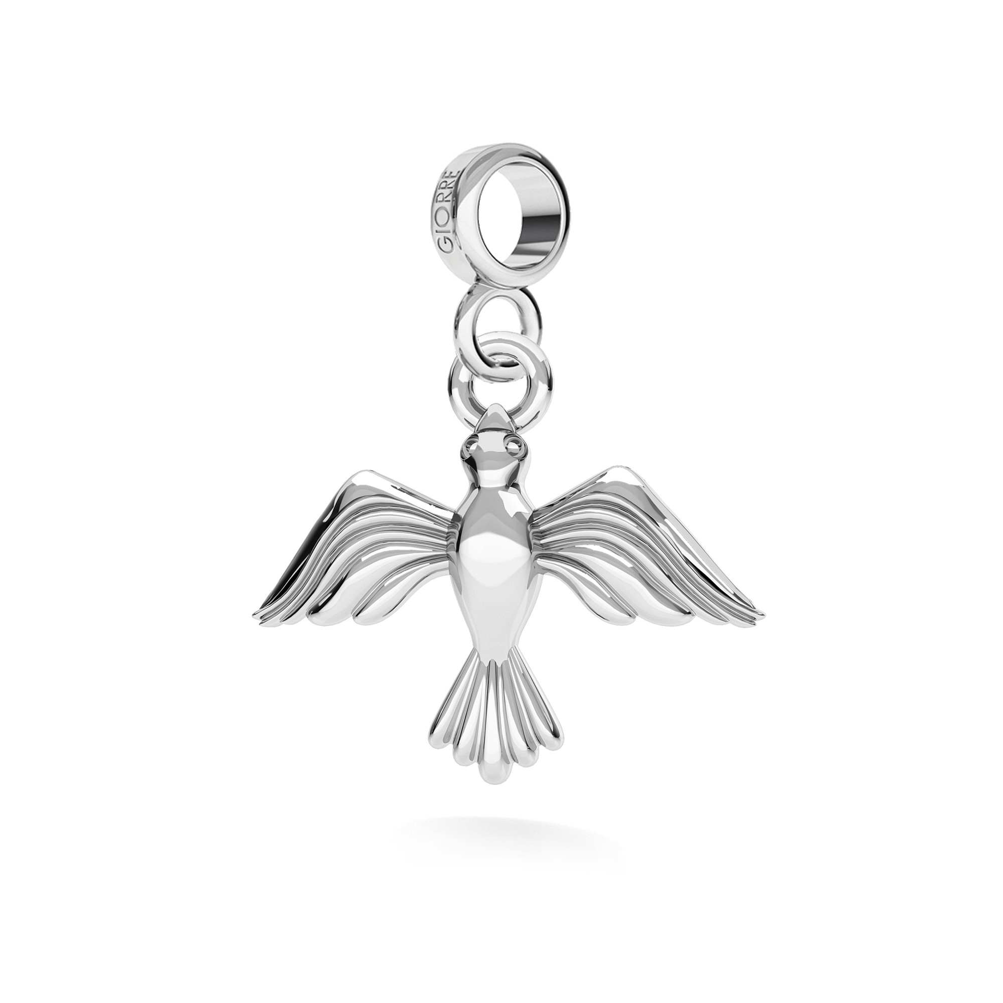 Feuille charms pendentif argent 925