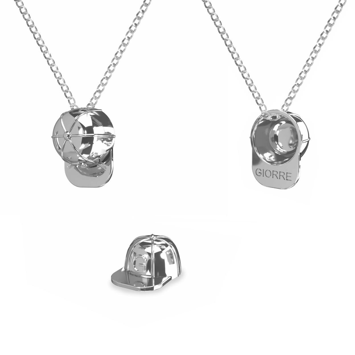 Cap girl necklace 925