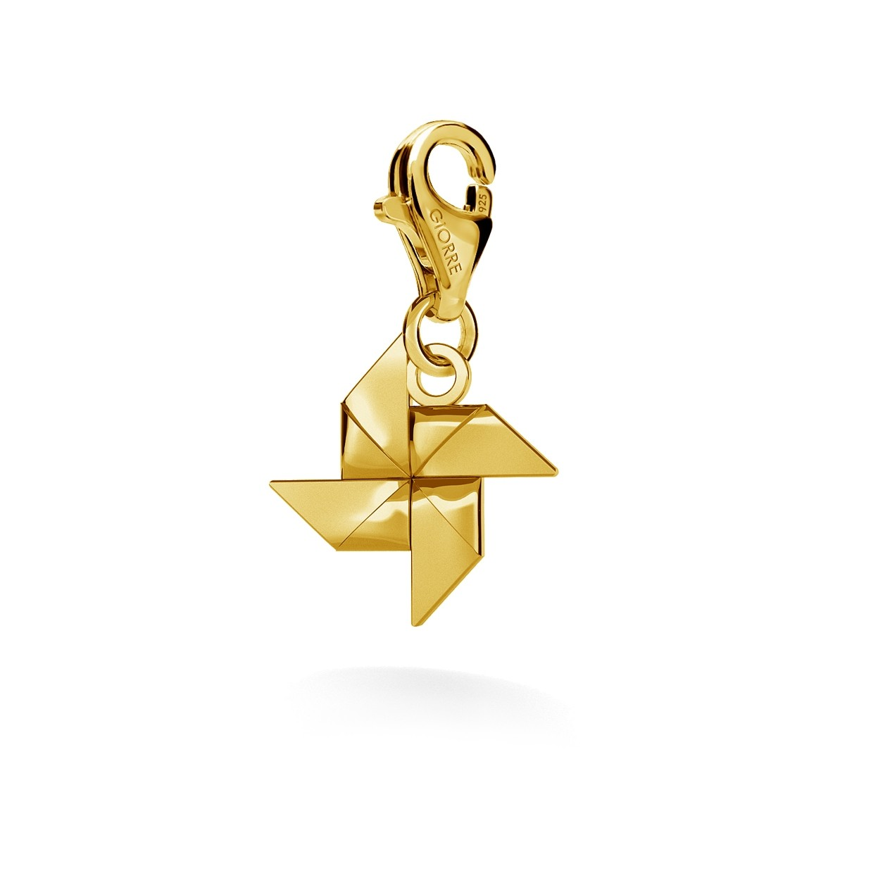CHARM 42, WINDMILL, SILVER 925,  RHODIUM OR GOLD PLATED