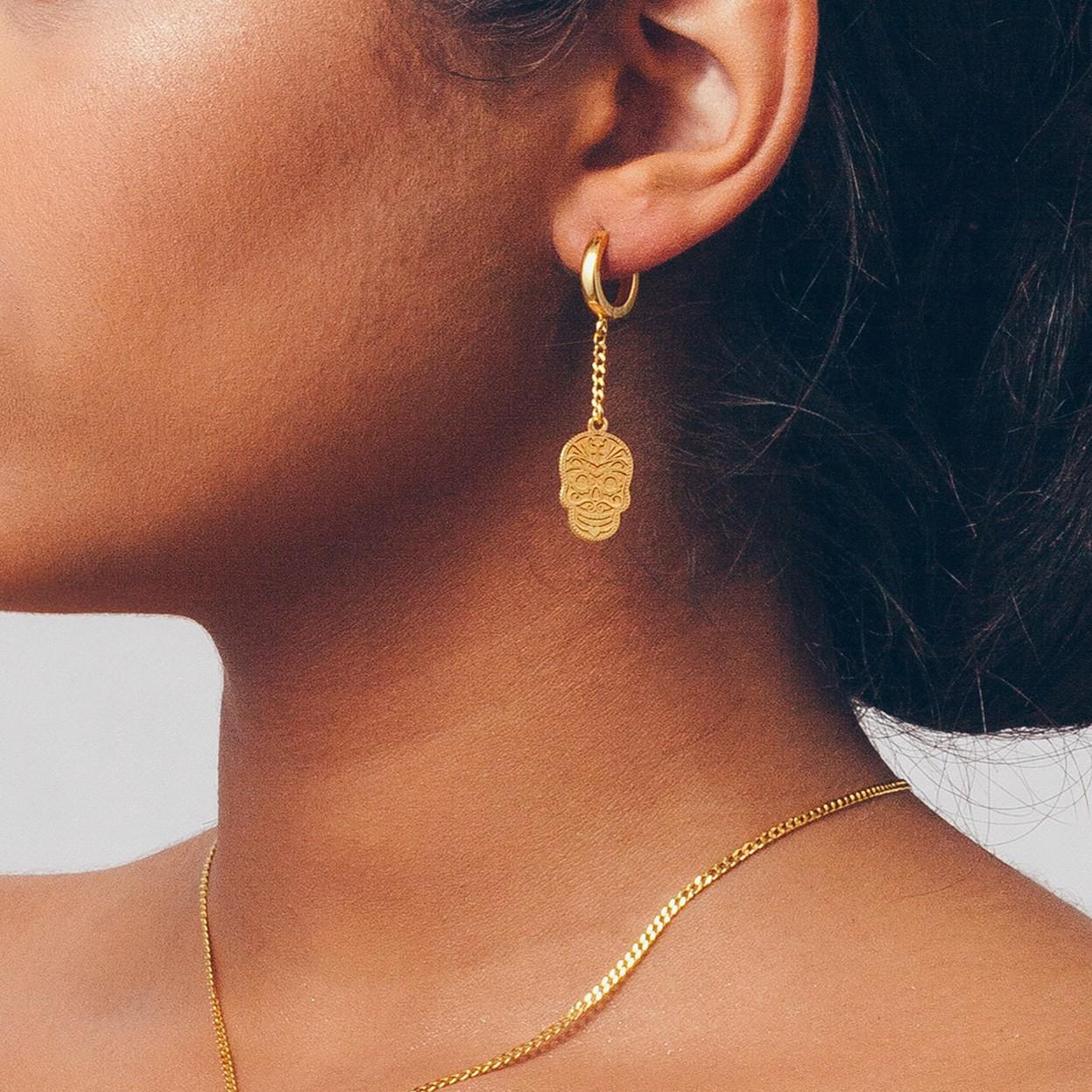 Silver SUGAR SKULL earrings 925