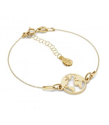 MON DÉFI Armband - Globus, gold 585