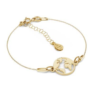 MON DÉFI Necklace - Globe, Gold 585