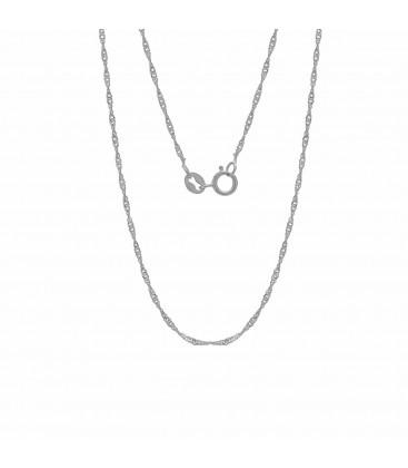 Srebrny łańcuszek skręcany singapur 925