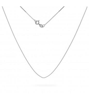 Srebrny łańcuszek kostka diamentowana 925