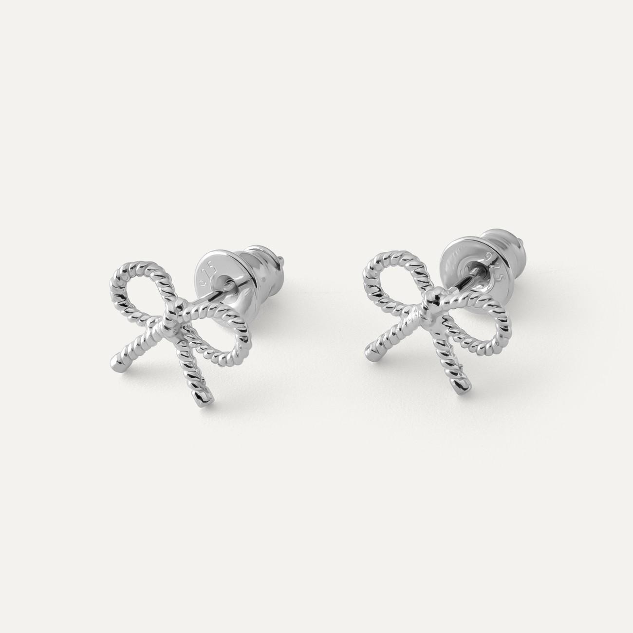 Kolczyki kokardki, srebro 925