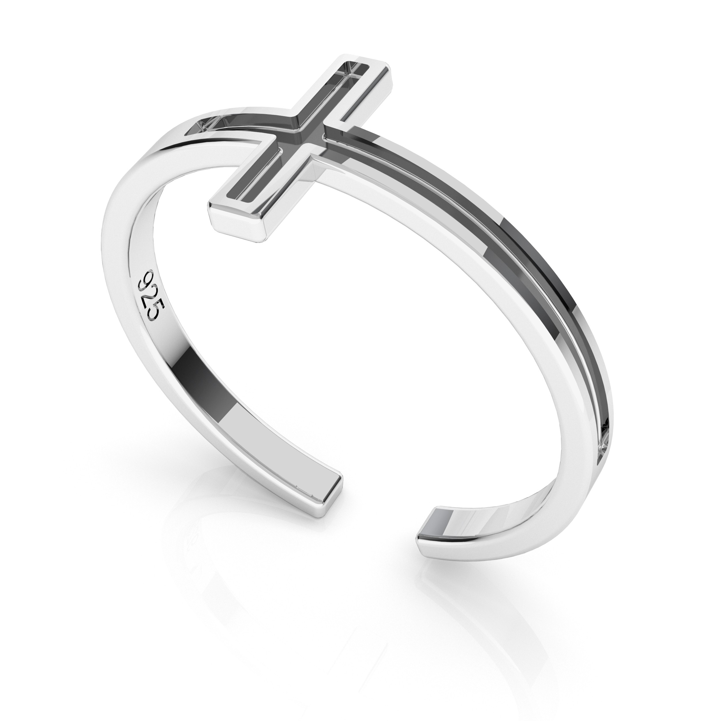 Rope ring, sterling silver 925