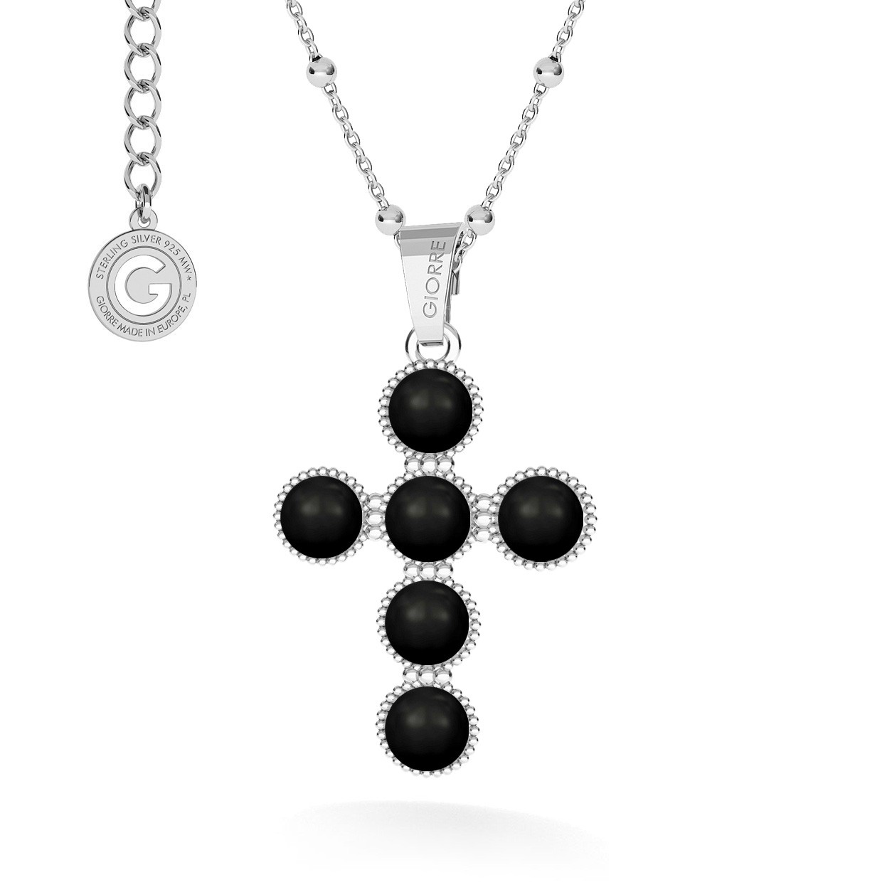 Cross necklace silver 925 & swarovski