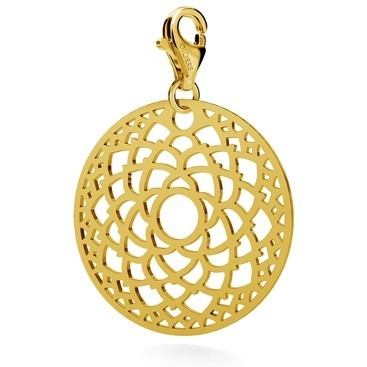 CHARM 68, CROWN CHAKRA, STERLING SILVER (925) RHODIUM OR GOLD PLATED