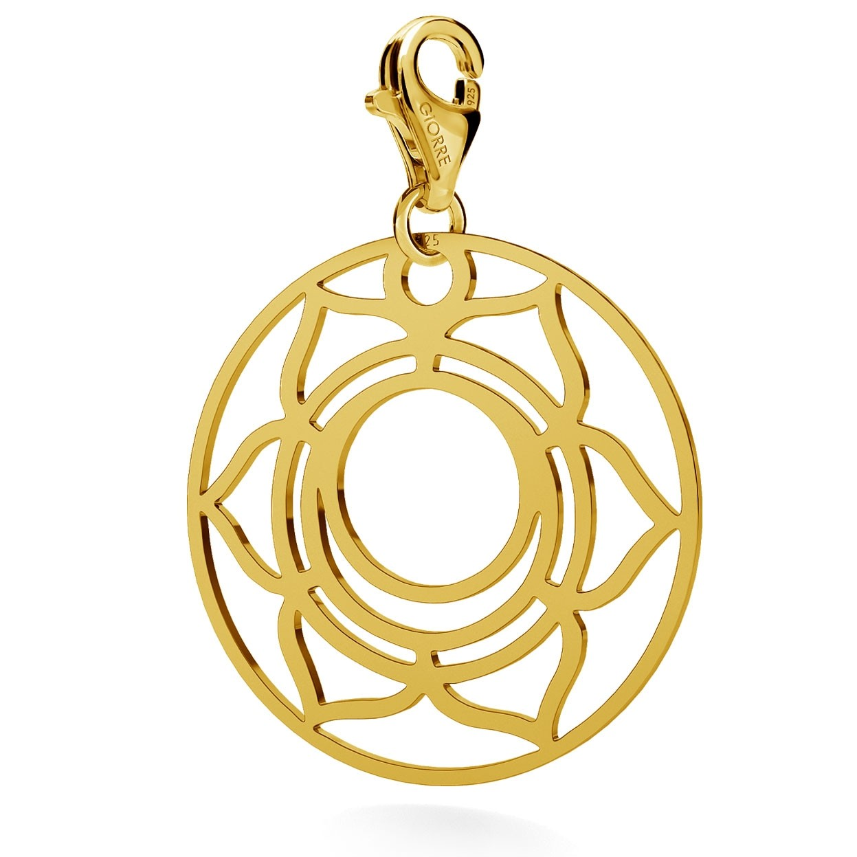 CHARM 73, SACRAL CHAKRA, STERLING SILVER (925) RHODIUM OR GOLD PLATED