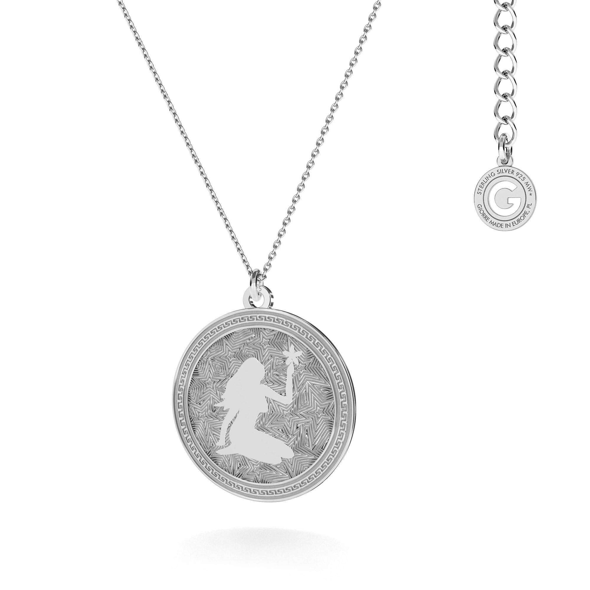 LION zodiac sign necklace silver 925