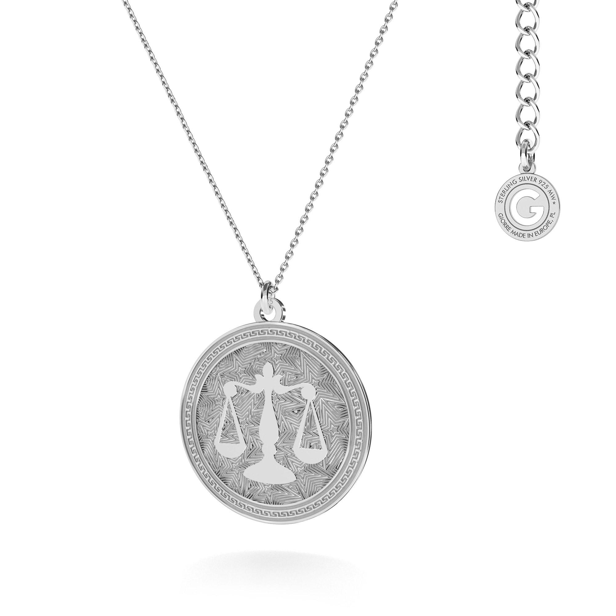 Srebrny naszyjnik znak zodiaku WAGA 925