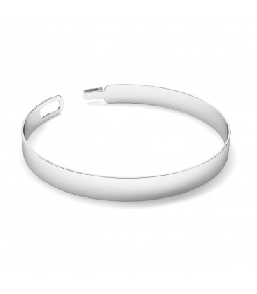 Unisex bangle satin bracelet sterling silver 925