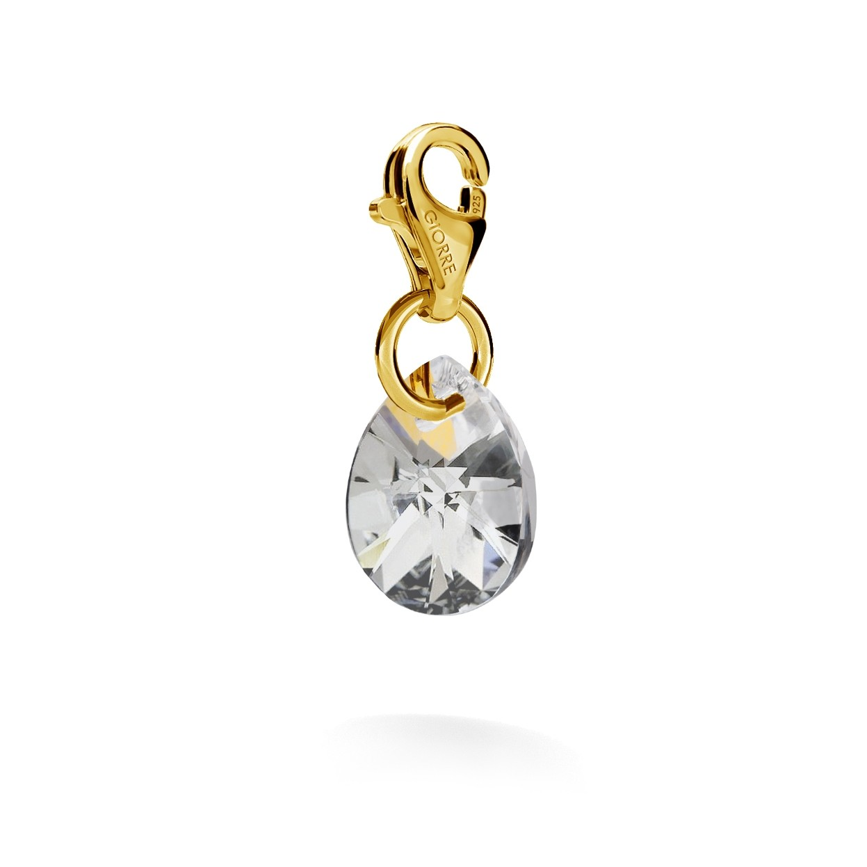 CHARMS 51, SWAROVSKI 6128 MM 12 CRYSTAL, STERLING SILVER (925) RHODIUM OR GOLD PLATED