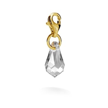 CHARM 49, SWAROVSKI 6000 MM 13 CRYSTAL, STERLING SILVER (925) RHODIUM OR GOLD PLATED