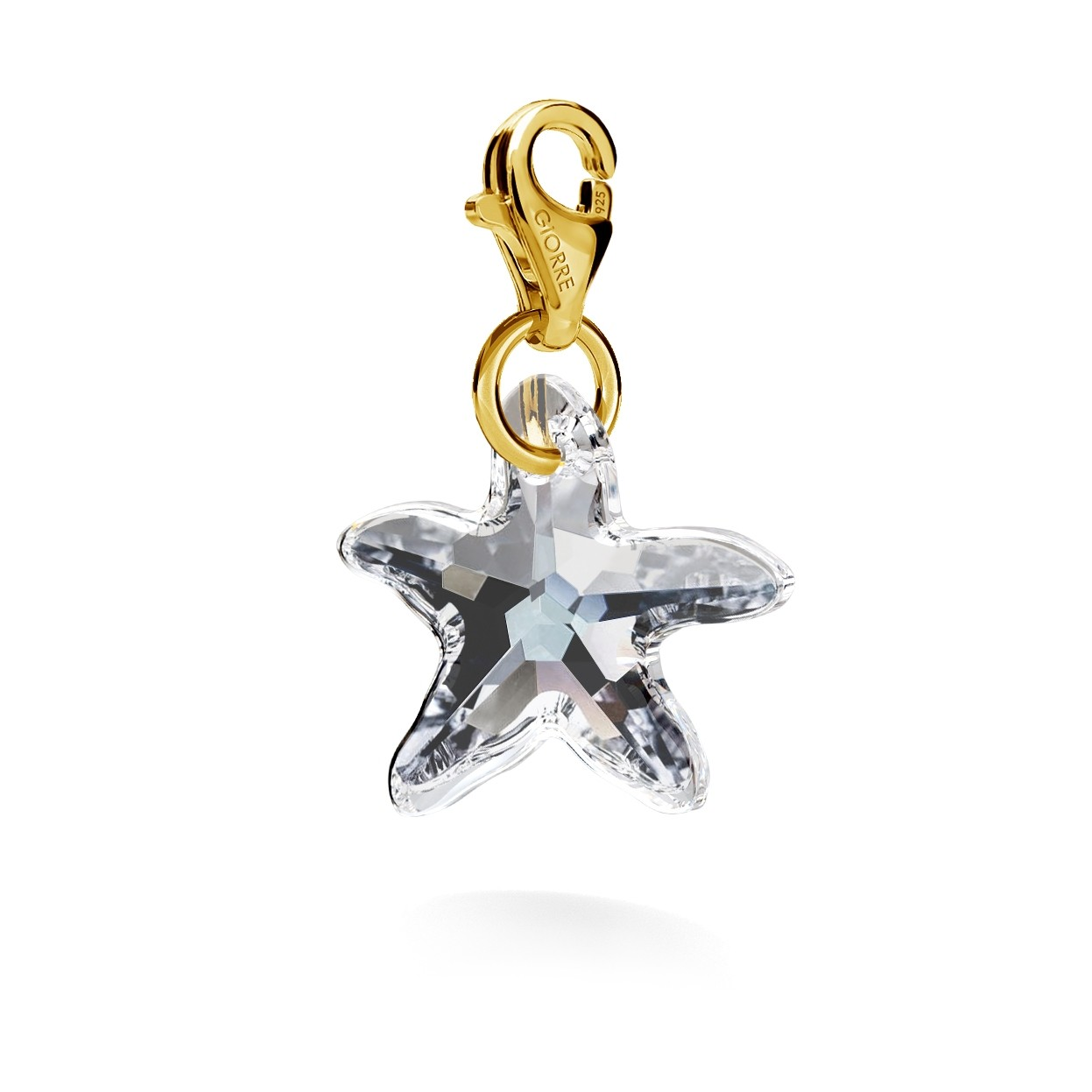 CHARM 53, SWAROVSKI 6721 MM 16 CRYSTAL, STERLING SILVER (925) RHODIUM OR GOLD PLATED