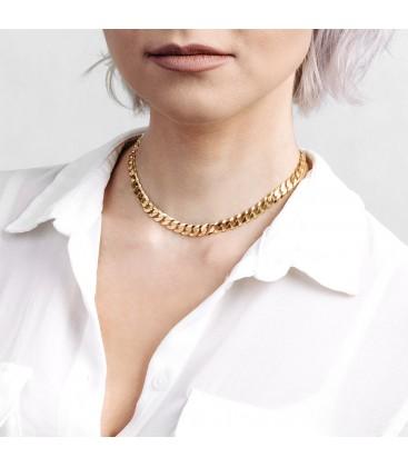 MON DÉFI Silver chain necklace curb choker 925