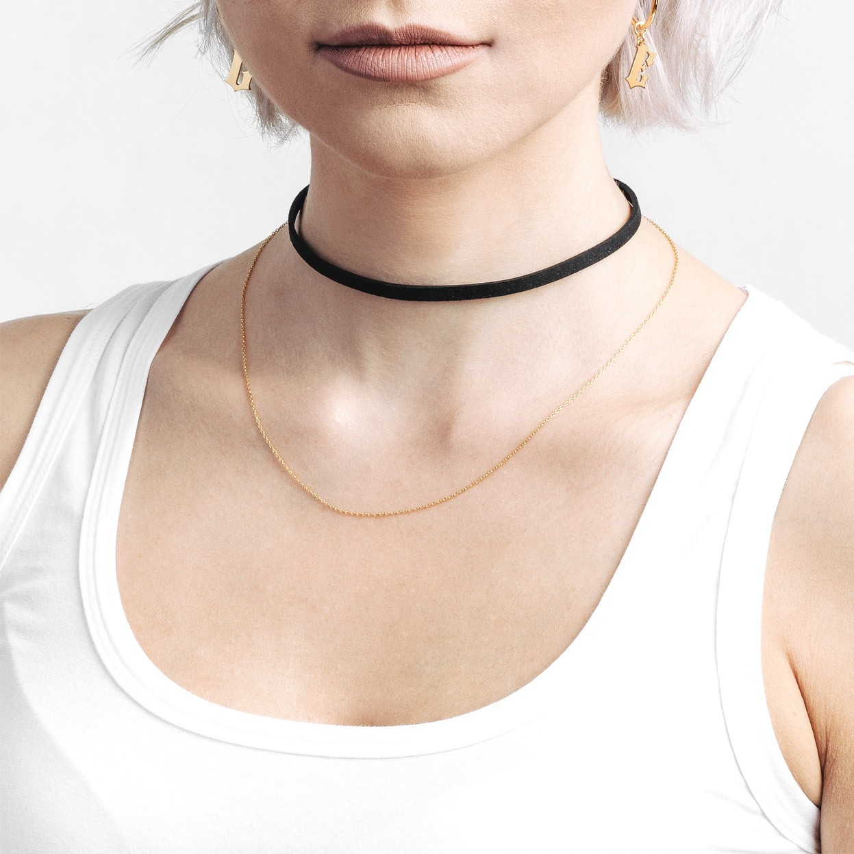 COLLIER FOULARD BASE CHARMS PERLE ARGENT