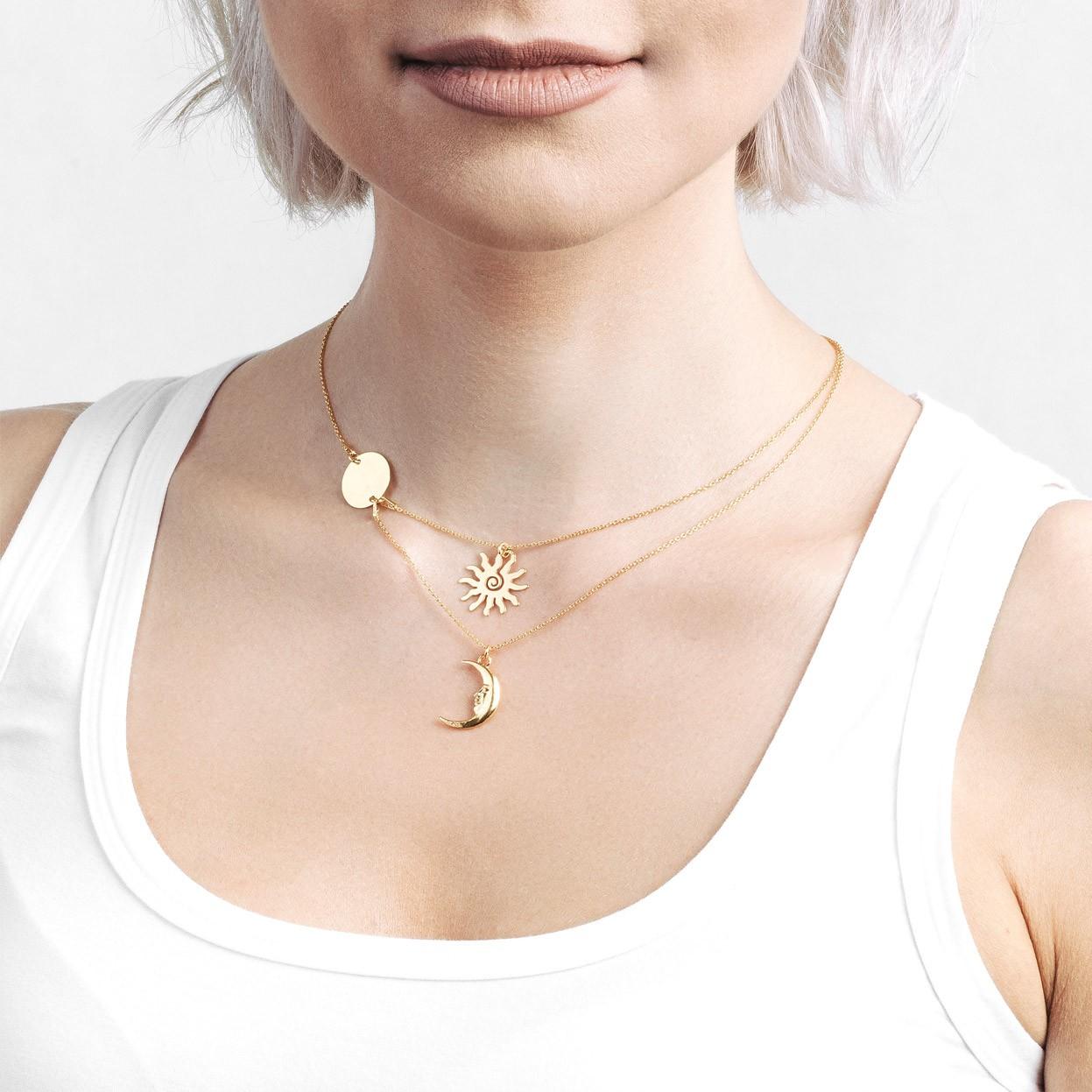LUNA collar plata 925