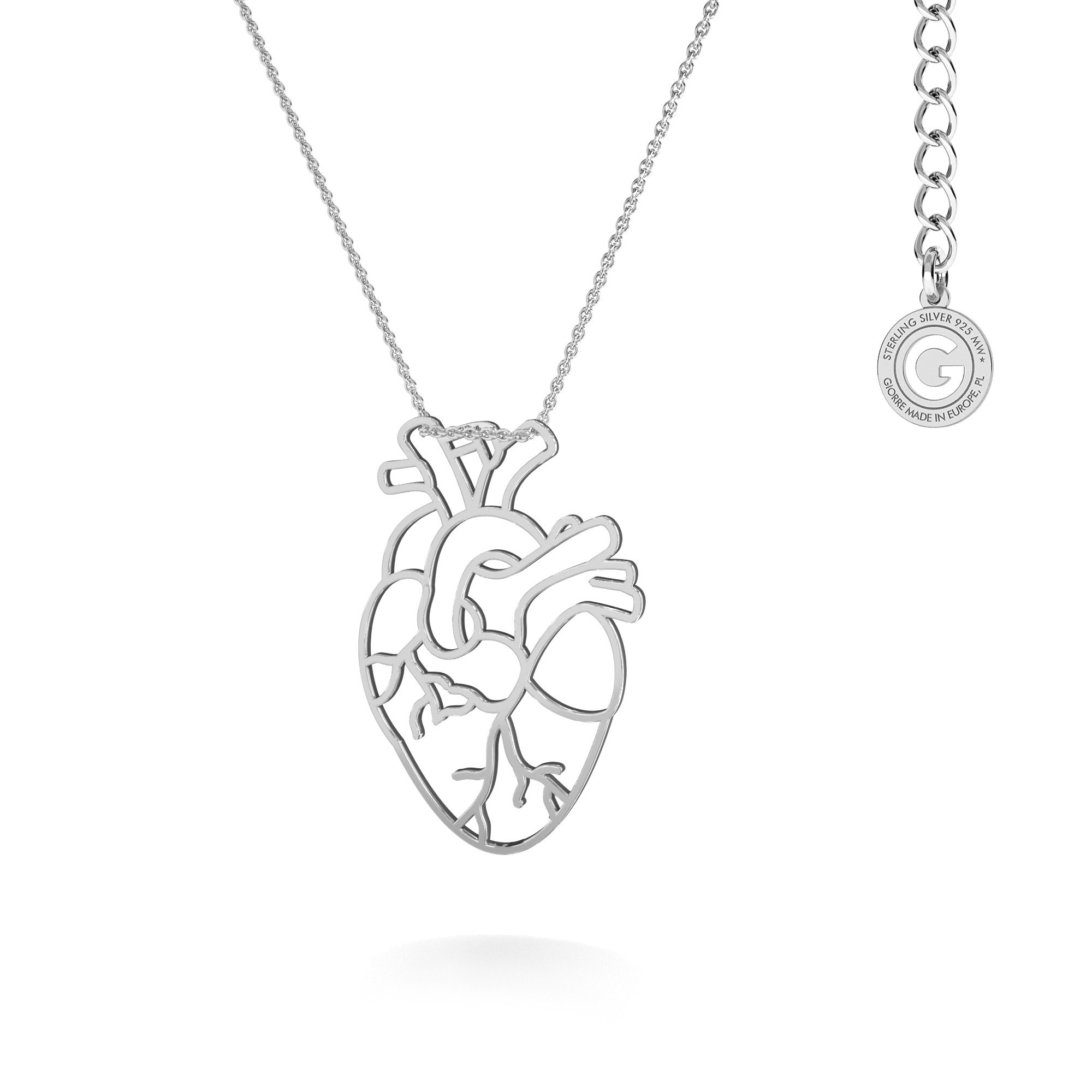 MON DÉFI Necklace - Tree & human heart, sterling silver 925