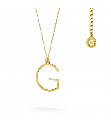 Halskette mit großem buchstaben A, Sterlingsilber 925