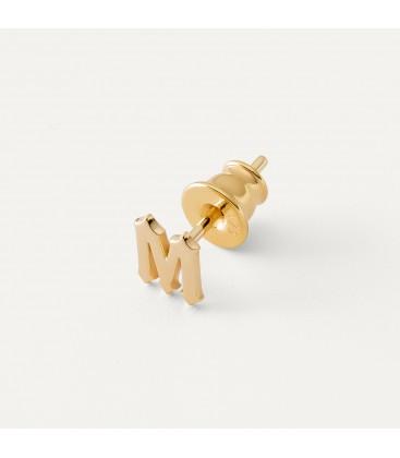 Des boucles d'oreilles lettre MON DÉFI argent 925