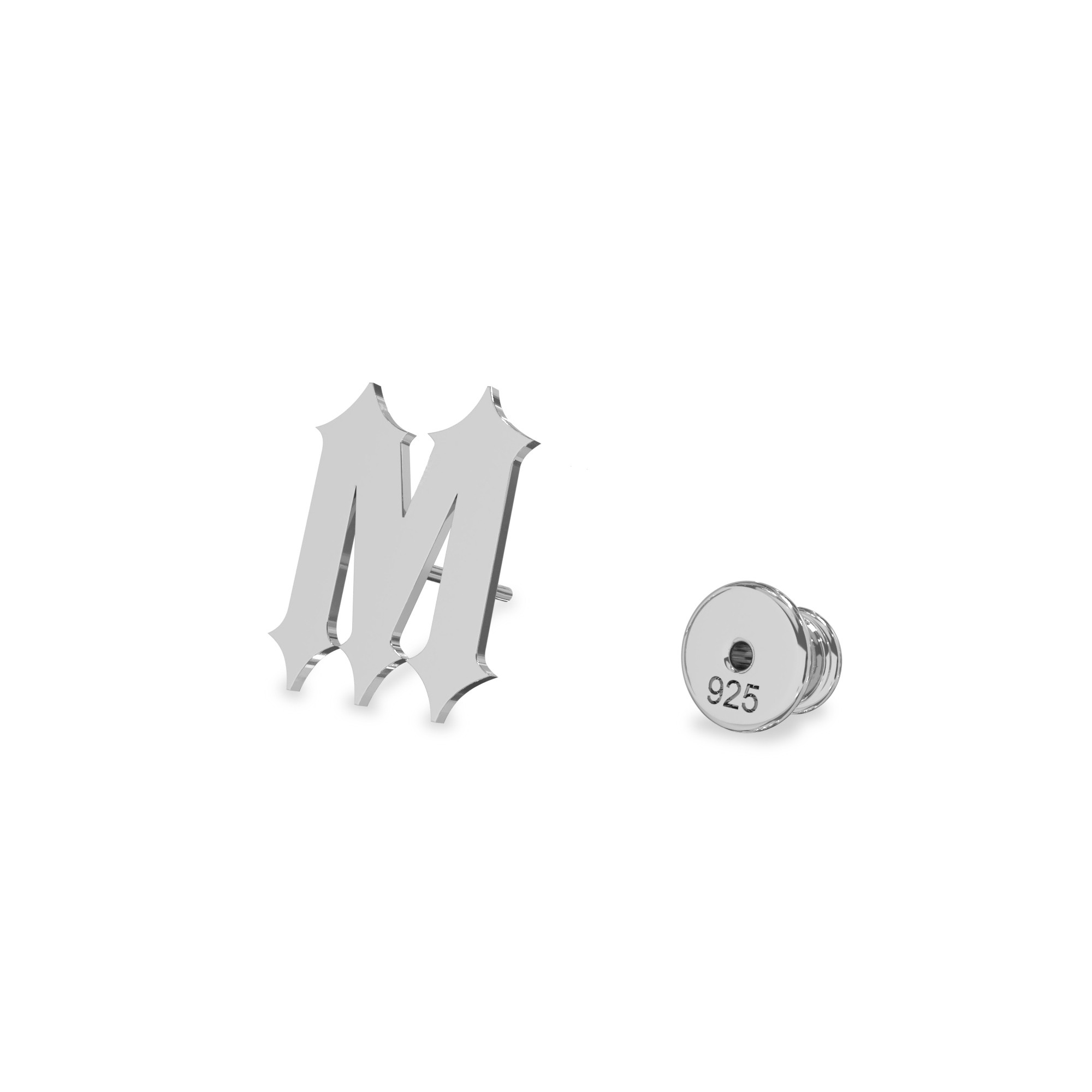 Chain earrings your letter sterling silver 925