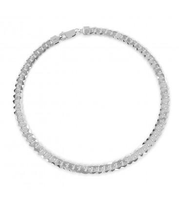 Gruba męska pancerka, grubość 7,4 mm, srebro 925