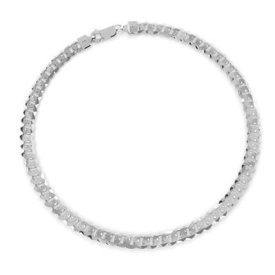 Gruba męska pancerka srebro 925, grubośc 7,4 mm