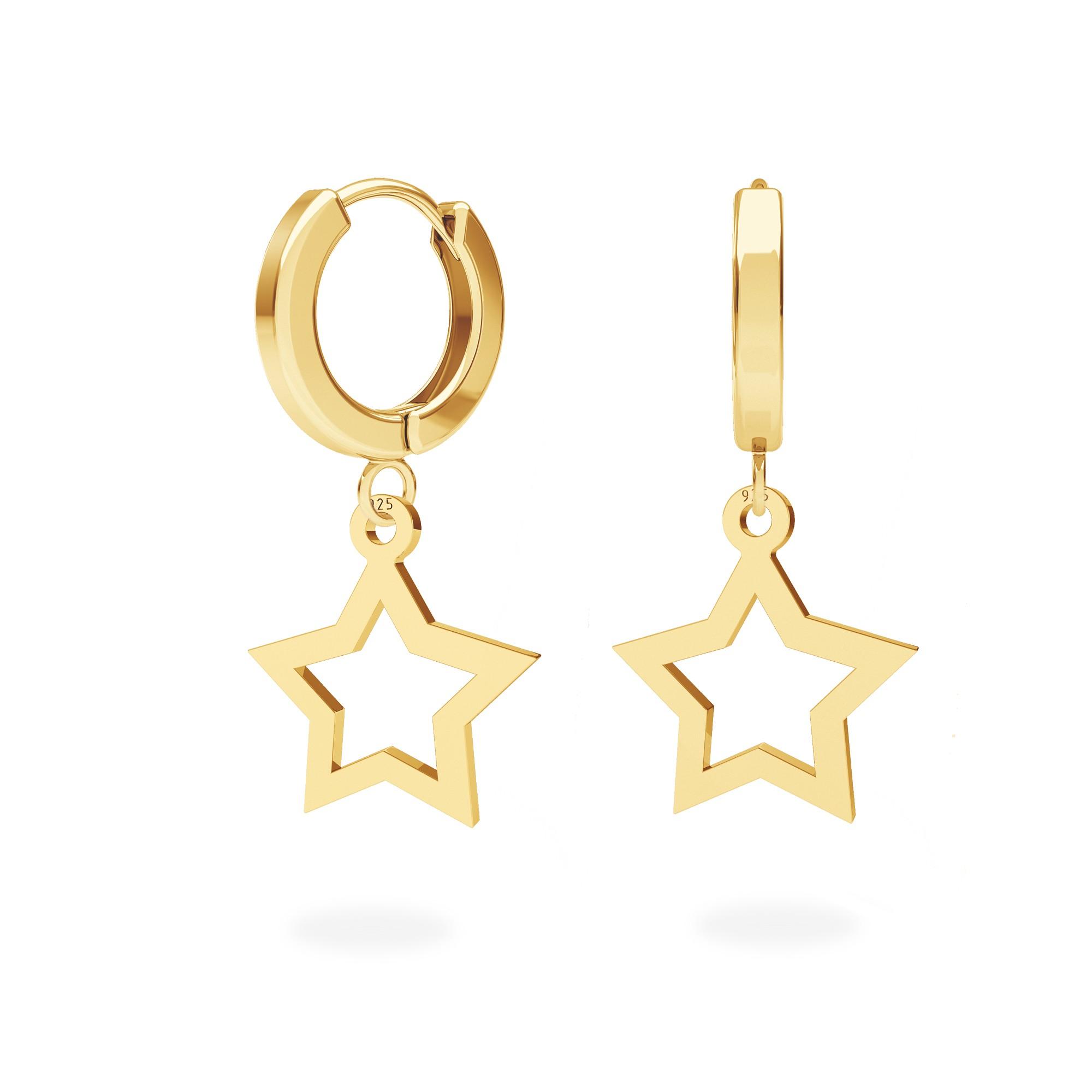 Moon earrings sterling silver 925