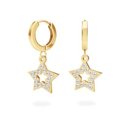 Srebrne kolczyki gwiazdki z kryształami Swarovskiego