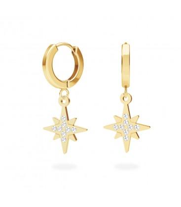 North star earrings sterling silver 925