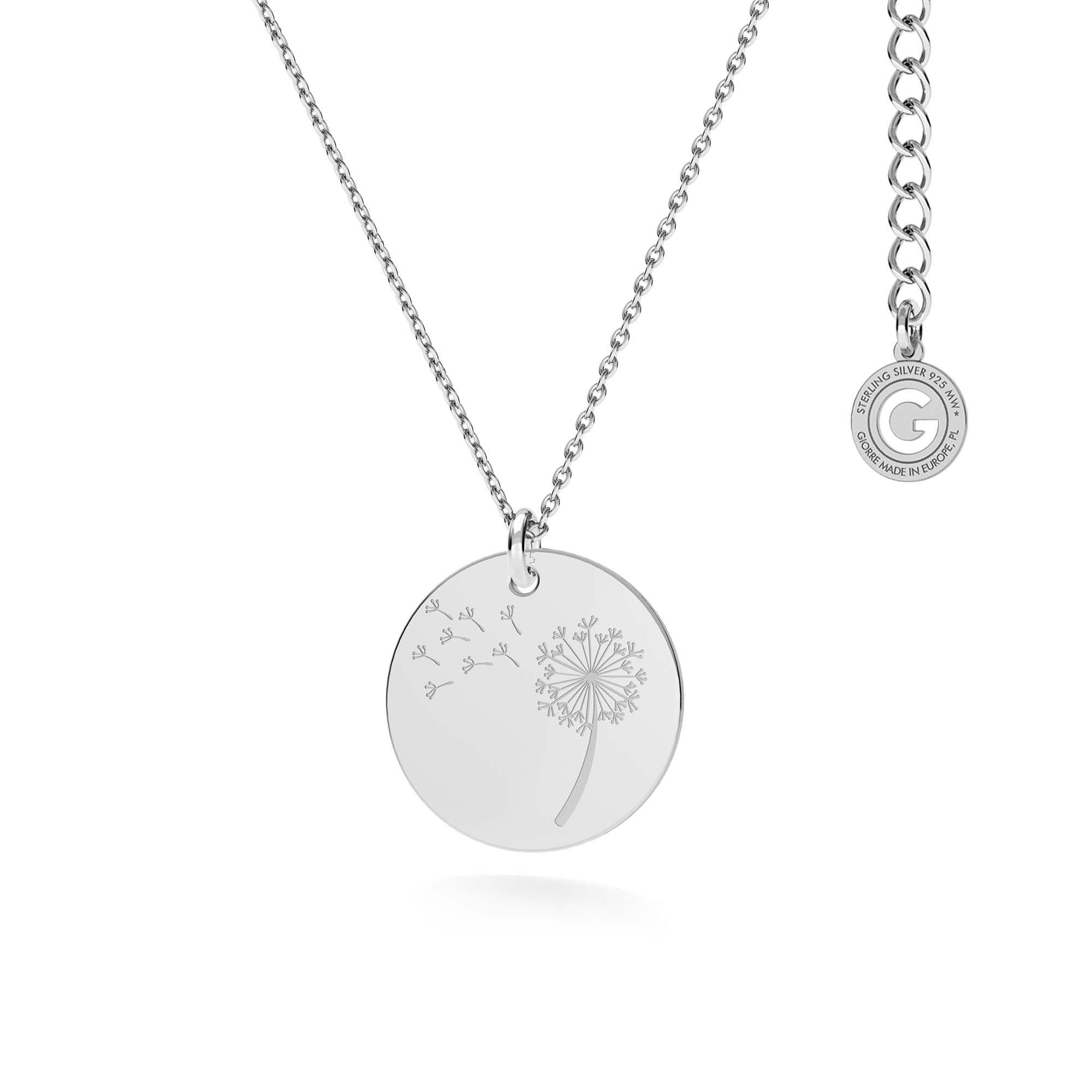 Collar para madre e niñao grabado, plata 925