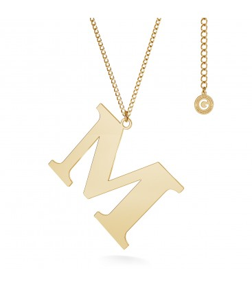 Halskette mit 3 cm brief, Sterlingsilber 925