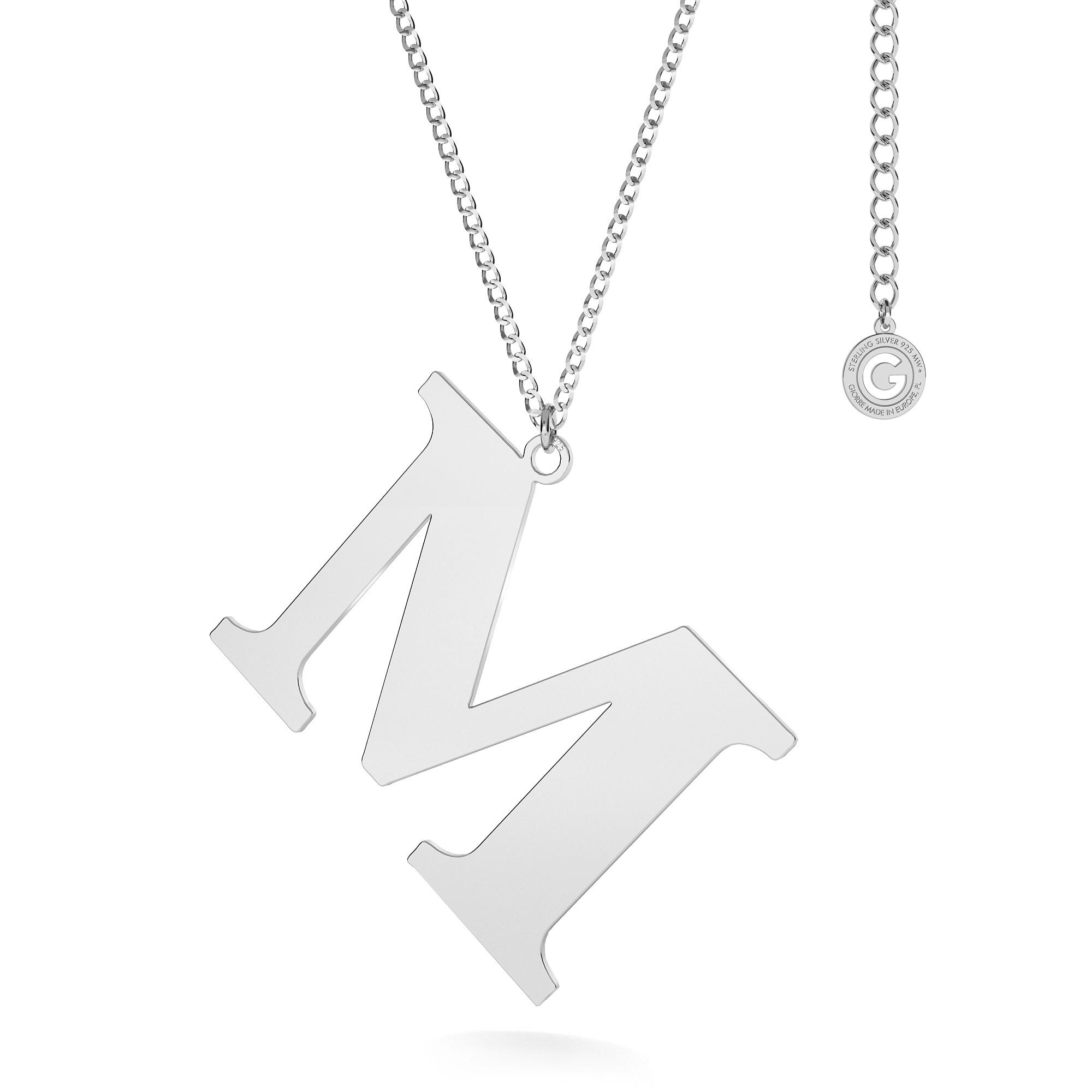 Collar con 3 cm letra plata 925