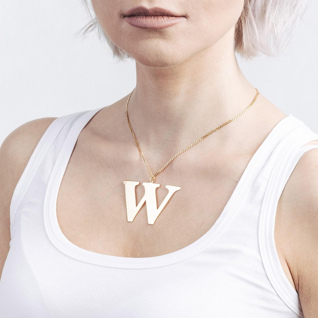 Srebrny naszyjnik dowolna litera 5 cm, alfabet, srebro 925