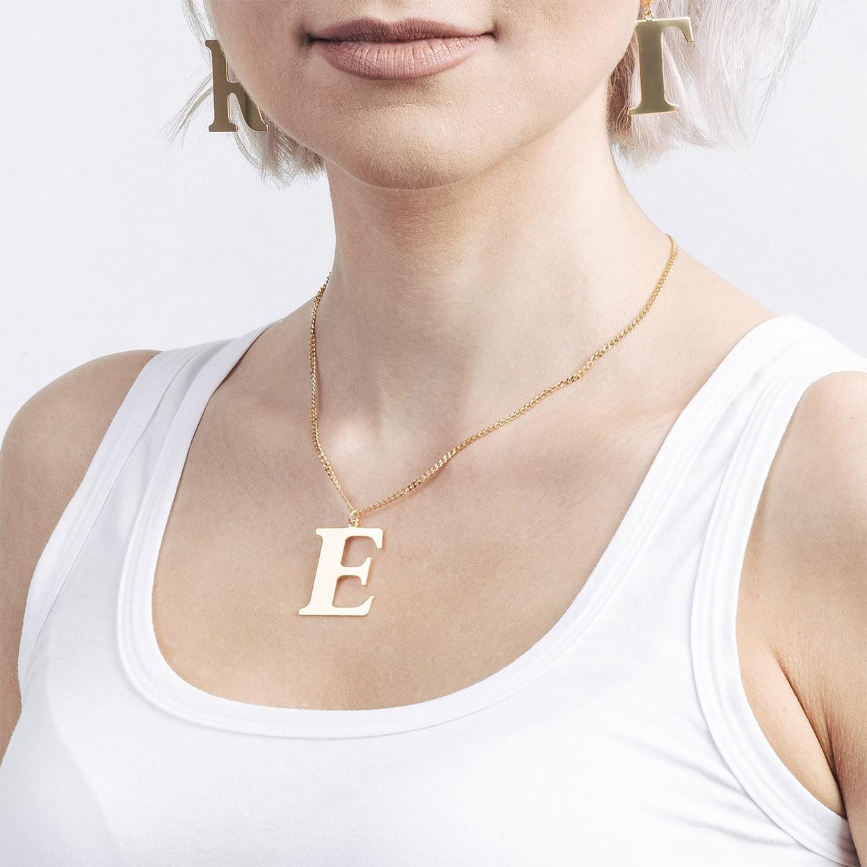 Srebrny naszyjnik dowolna litera 3 cm, alfabet, srebro 925