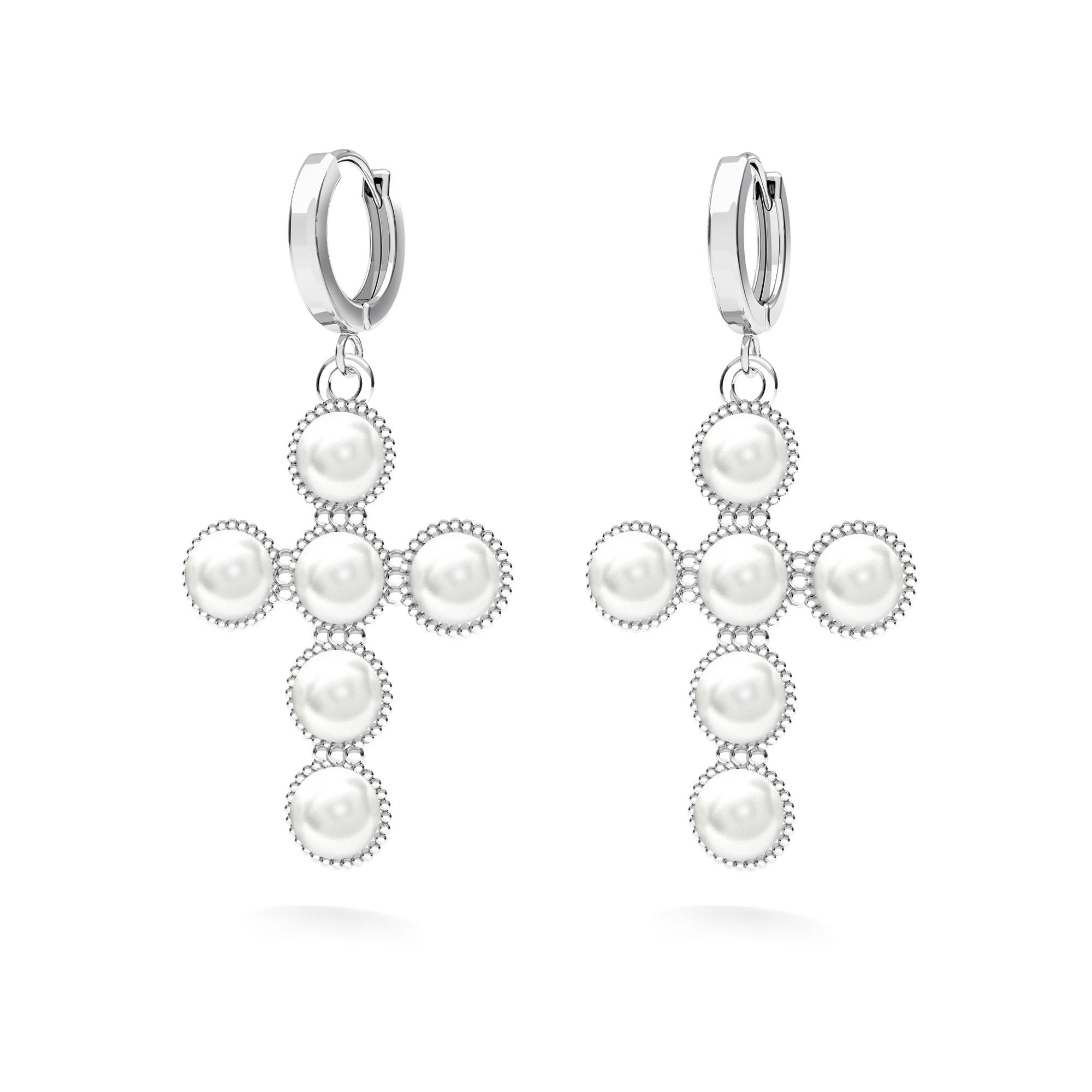 Colgante cruzar con swarovski perle plata 925