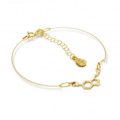 Oro collar serotonina 14k