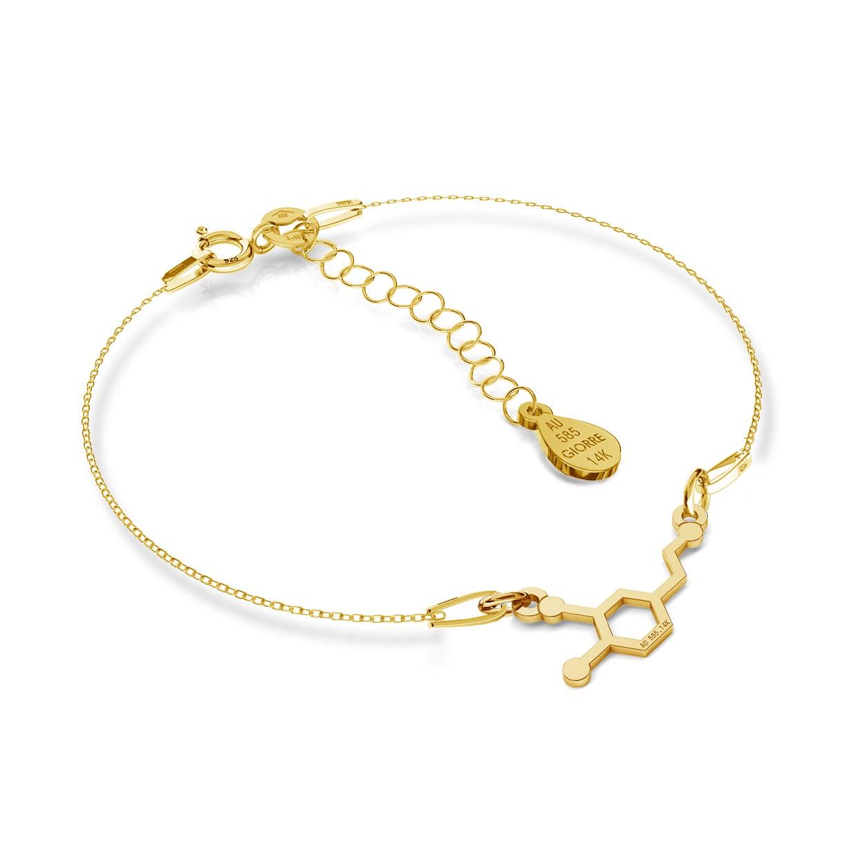 Gold necklace dopamine 14k