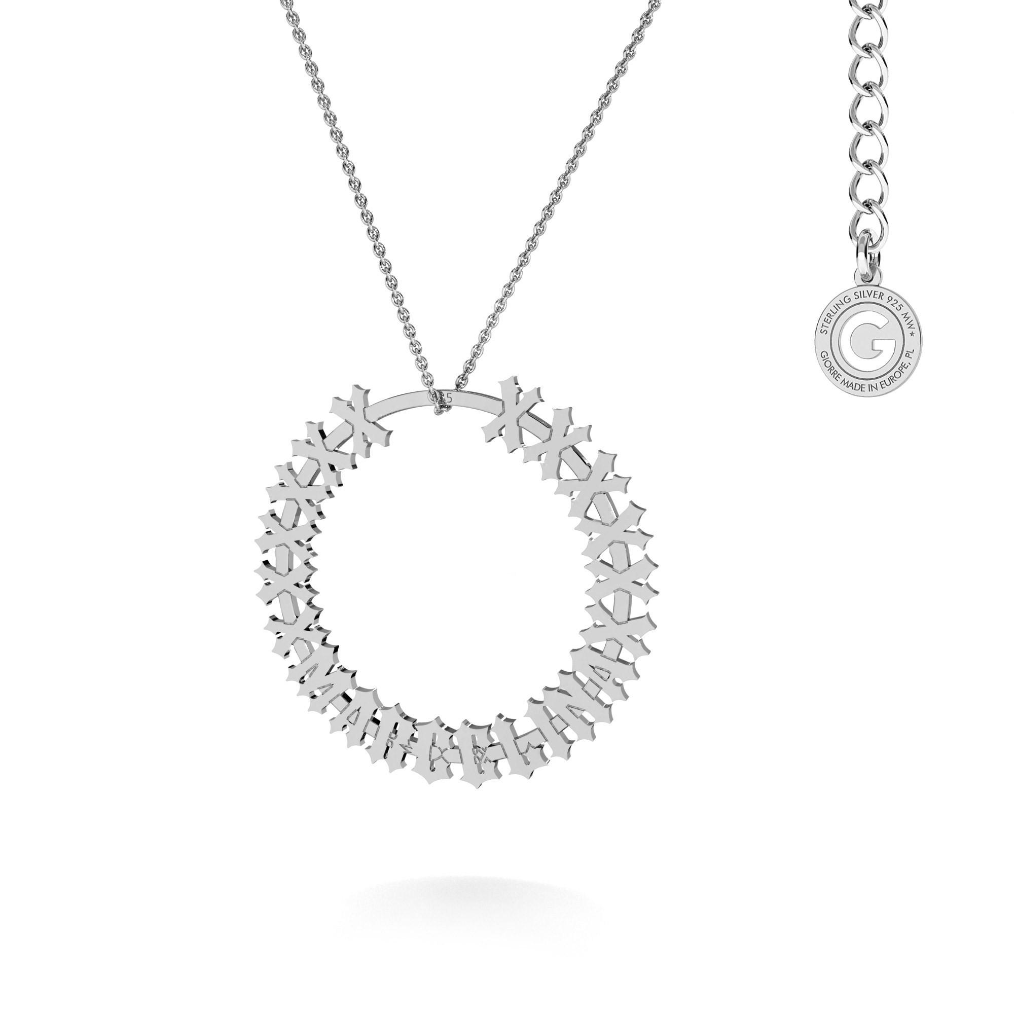 MON DÉFI Necklace - anatomic heart, sterling silver 925