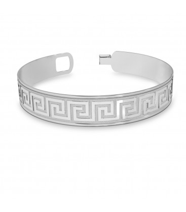 Men bangle greek bracelet sterling silver 925