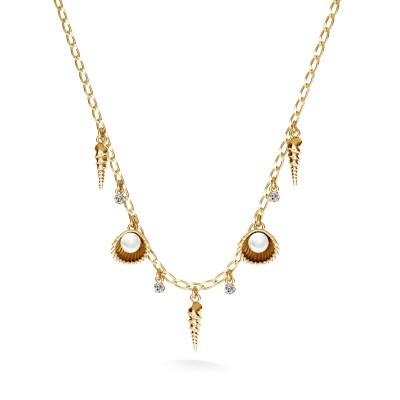 Pearls choker charms base MON DÉFI, Silver 925