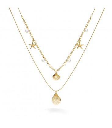 Shell necklace, MON DÉFI, Silver 925
